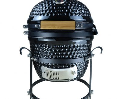 Outsunny Cast Iron Ceramic Kamado Charcoal BBQ Oven Black 846-050BK 5056029888797