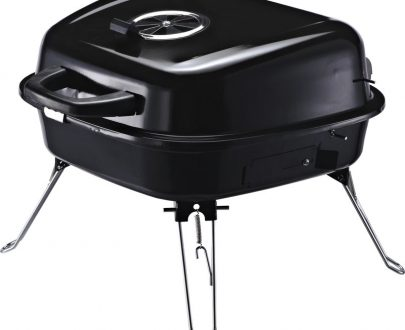 Outsunny Steel Portable Charcoal BBQ Iron Grill w/ Grid Black 846-061 5056029894613