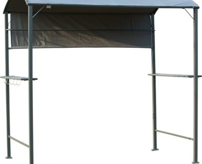 Outsunny Metal Frame Outdoor BBQ Canopy Grey 84C-174 5056029891391
