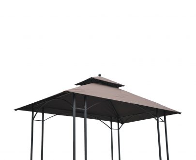 Outsunny BBQ Tent 250L× 150W × 255H cm-Black/Coffee