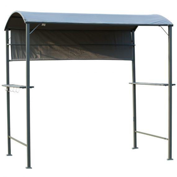 Outsunny Metal Frame Outdoor BBQ Canopy Grey