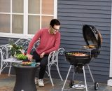 Outsunny Portable Kettle Charcoal BBQ Grill Outdoor Barbecue Picnic Party Camping w/ Wheels 5056029846841