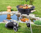 Outsunny Portable Round Kettle Charcoal Grill BBQ Outdoor Heat Control Party Patio Barbecue 846-033 5056029829172