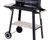 Outsunny Charcoal BBQ Grill, 87Lx45Wx83H cm-Black 846-032 5056029829134