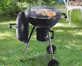 Outsunny Steel Freestanding Charcoal BBQ Grill w/ Wheels Black 846-045 5056029888636
